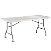 6 Foot White Table