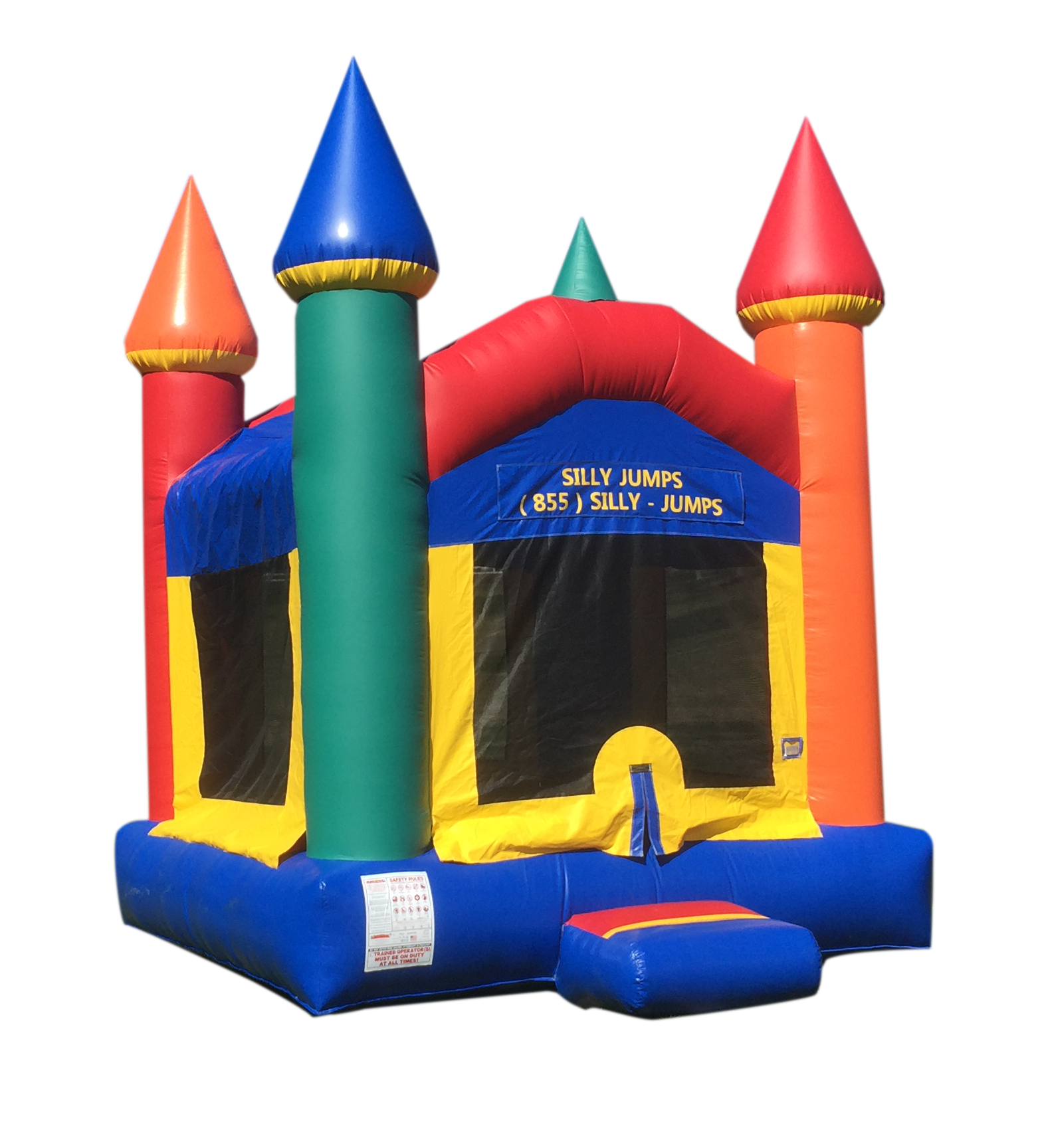 Multi-Colored Bounce Castle - SillyJumps